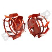 Грунтозацепы (комплект) ф 380/300 мм, шир. 180 мм, 6-гр. втулка 23 мм, 3 обруча