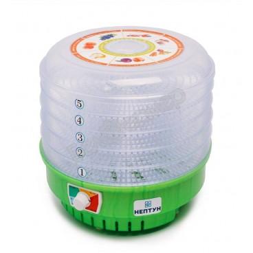 Сушилка для овощей и фруктов Нептун-5 (6 поддонов, прозрач.) 660Вт