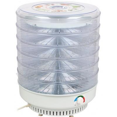 Сушилка для овощей и фруктов Ветерок-2 (6 поддонов, прозрач.) 600Вт