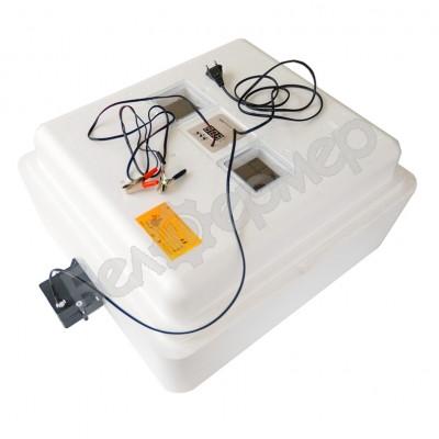 Инкубатор Несушка на 77 яиц (автомат, цифровое табло, вентиляторы, 220+12В) + Гигрометр, арт. 63ВГ