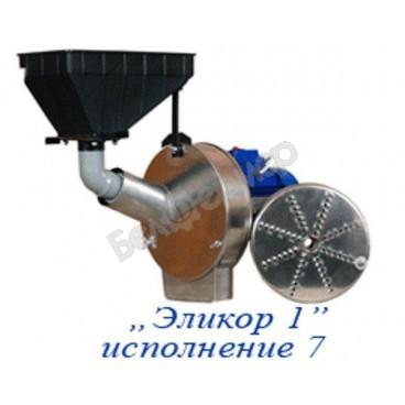 Кормоизмельчитель ЭЛИКОР-1 исполнение № 7 (фрукты и овощи, зерно), полностью нержавейка, 1,7 кВт