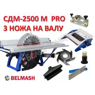 Станок деревообрабатывающий БЕЛМАШ СДМ-2500 М PRO 3х ножевая версия