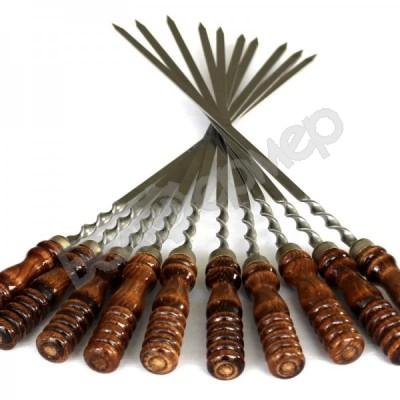 Шампур с деревянной ручкой 1 шт (60 см)