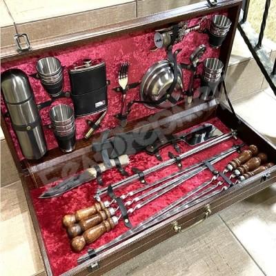 Набор для шашлыка в чемодане «Эксперт» люкс (44 предмета)