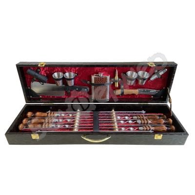 Набор для шашлыка в чемодане «Аристократ» (17 предметов)