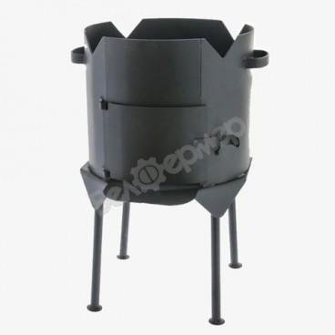 Печь усиленная для казана с дверцей на 4-х ножках (на 6 л)