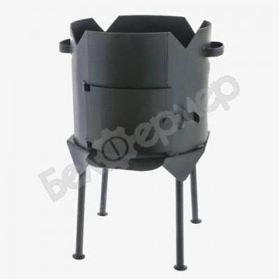 Печь усиленная для казана с дверцей на 4-х ножках (на 8-10 л)