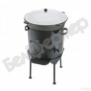 Комплект печь усиленная с дверцей + узбекский казан (на 6 л)