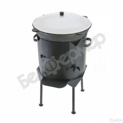 Комплект печь усиленная с дверцей + узбекский казан (на 8 л)