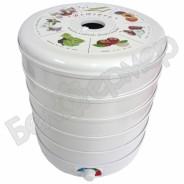 Сушилка для овощей и фруктов ЭСОФ-0,5/220 Ветерок-2 (5 сит, белый)