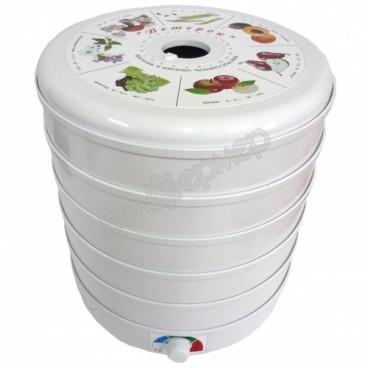 Сушилка для овощей и фруктов Ветерок-2 (6 поддонов, белый), 600Вт